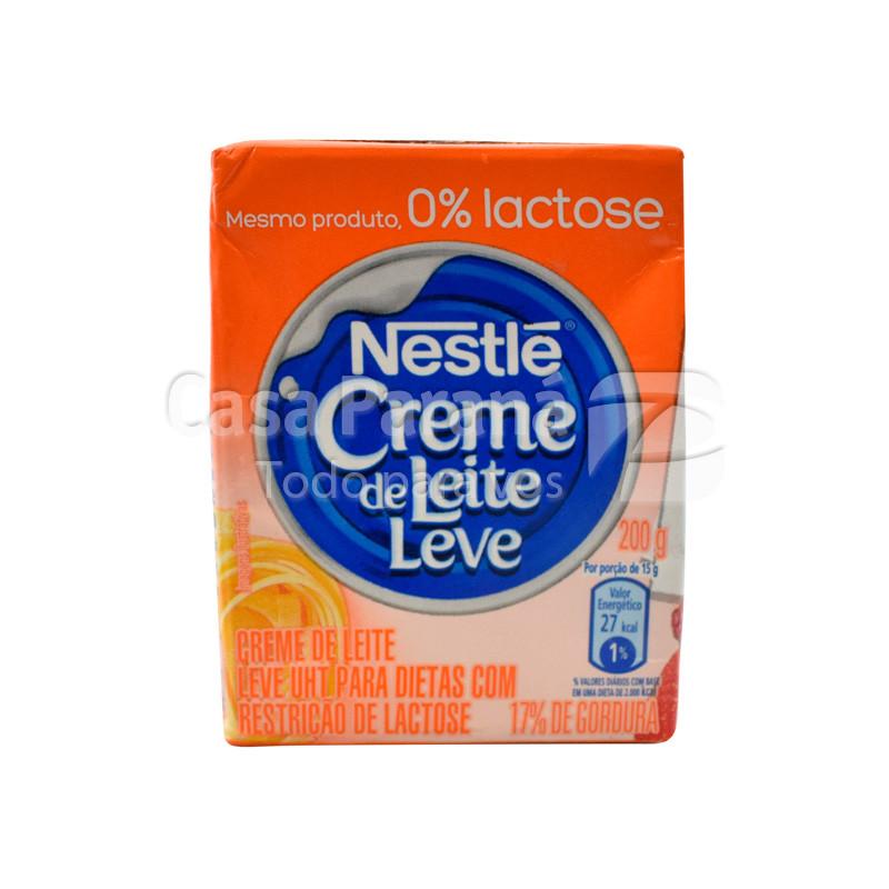 Crema de leche en cartoncito sin lactosa de 200 gr