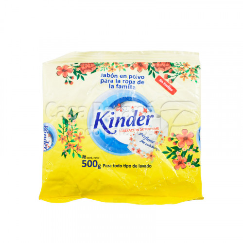 Jabon en polvo KINDER liberacion de perfume x 500gr.