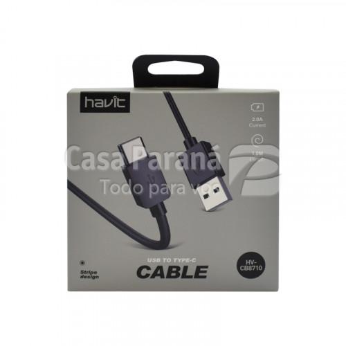 Cable audio 1mts tipo C HAVIT Ref.HV-CB8710-N