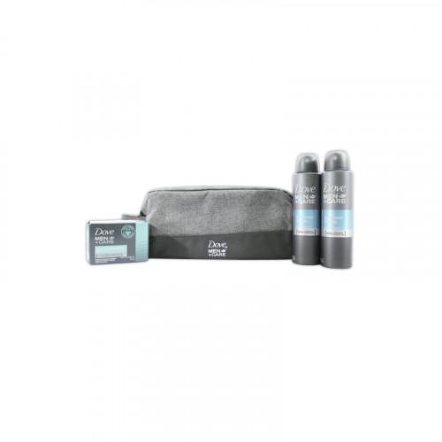Kit Dove men aerosol 150ml.+ jabon+ nessceser