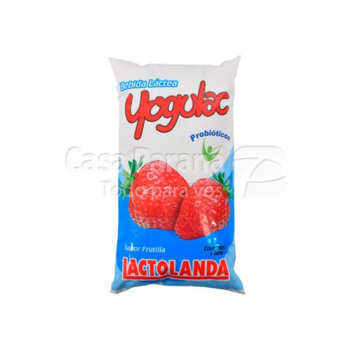 Yoghurt yogulac sabor frutilla de 1 litro