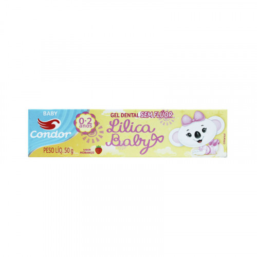Crema dental CONDOR lilica baby 50 gr. Morango