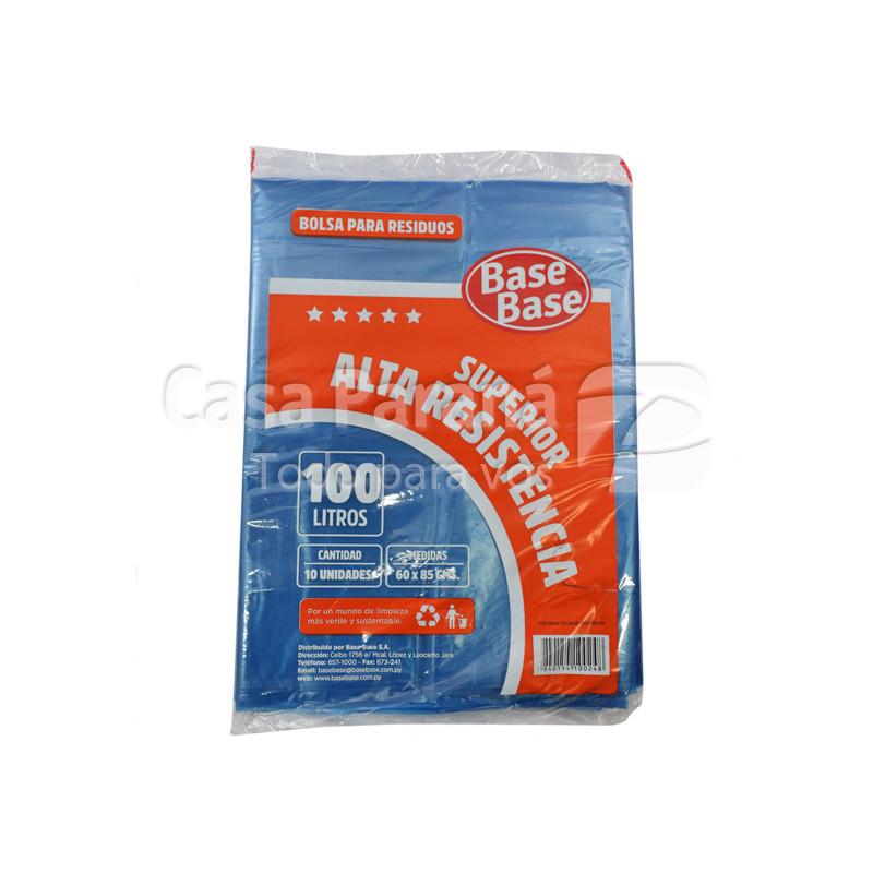 Bolsa para basura alta resistencia de 100lts