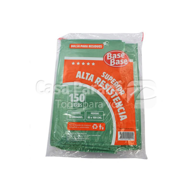 Bolsa para basura alta resistencia de 150lts