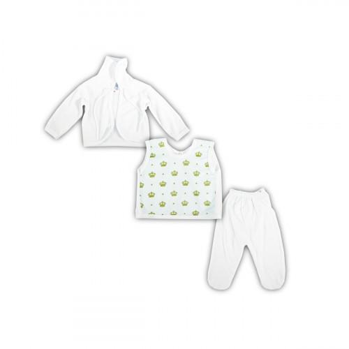 Conjuto para Bebe con estampado 3 pz RN