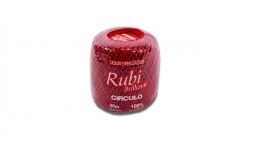 Hilo para crochet color rojo de 40m