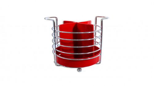 Porta cubierto cromado rojo