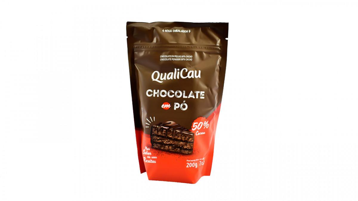CHOCOLATE EN POLVO 50% QUALICAU DE 200 GR.
