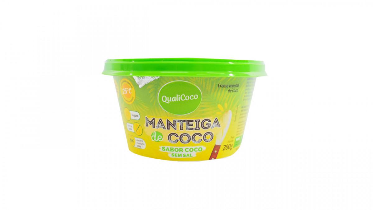 Manteca sabor coco sin sal de 200gr