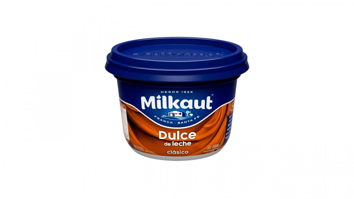 Dulce de leche clasico Milkaut 250 gr.