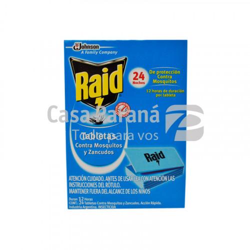 Pastilla para mosquitos 24 tabletas