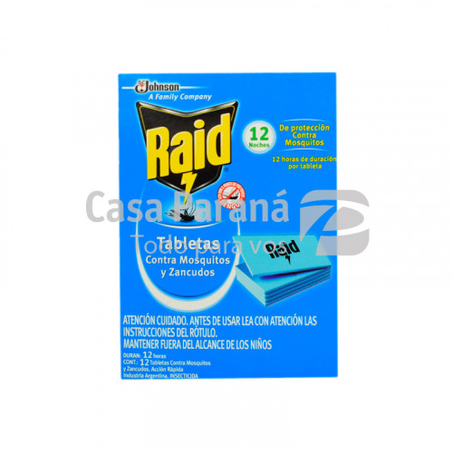 Pastilla para mosquitos 12 tabletas