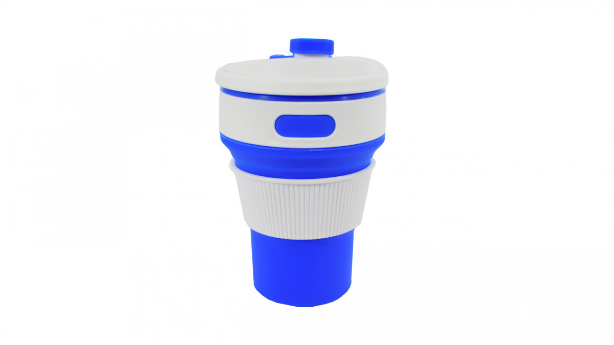 Vaso ajustable de silicona con tapa