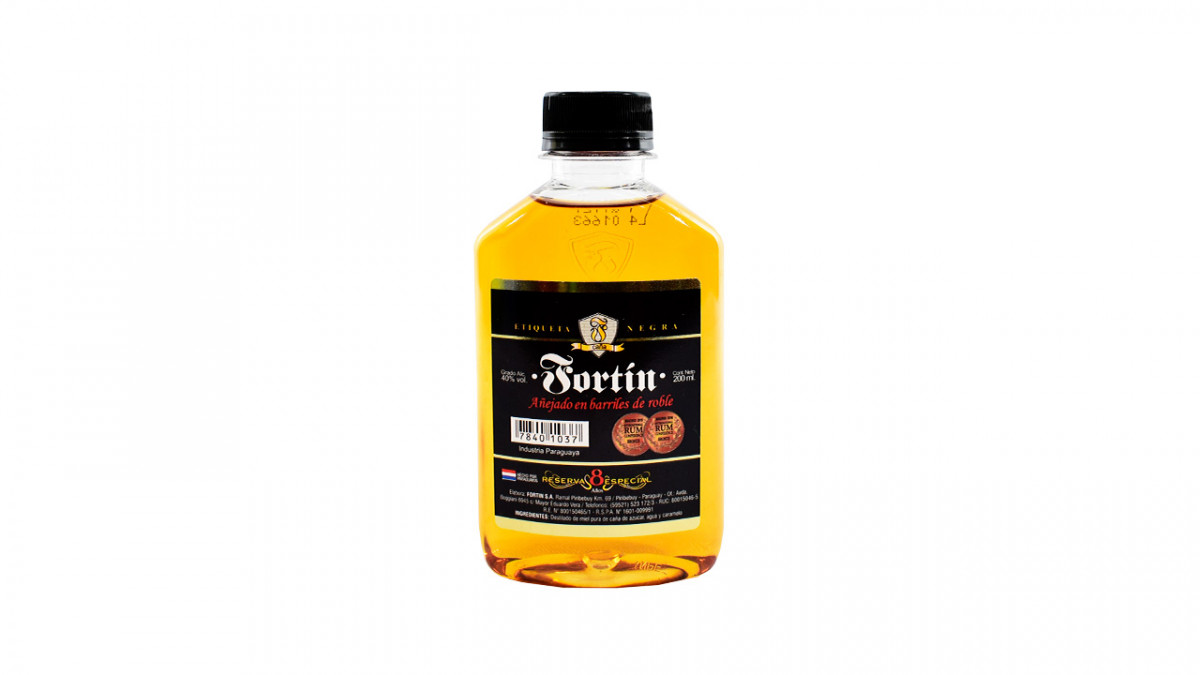 Caña de 200 ml etiqueta negra