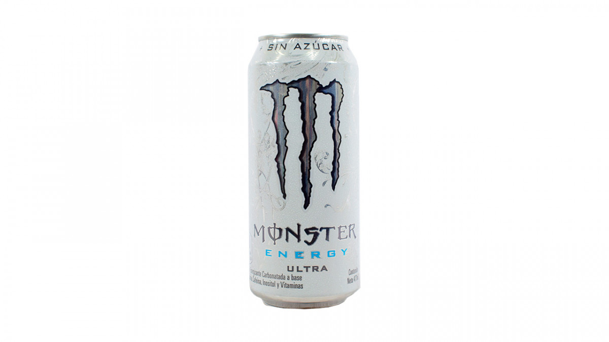 Bebida energizante MONSTER ultra 473 ml.