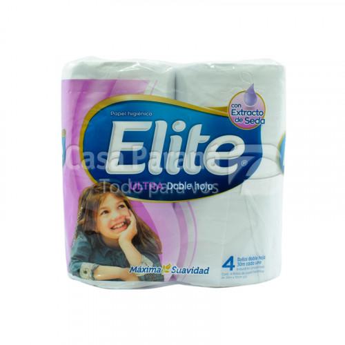 Papel higiénico doble hoja extra de 4 unidades