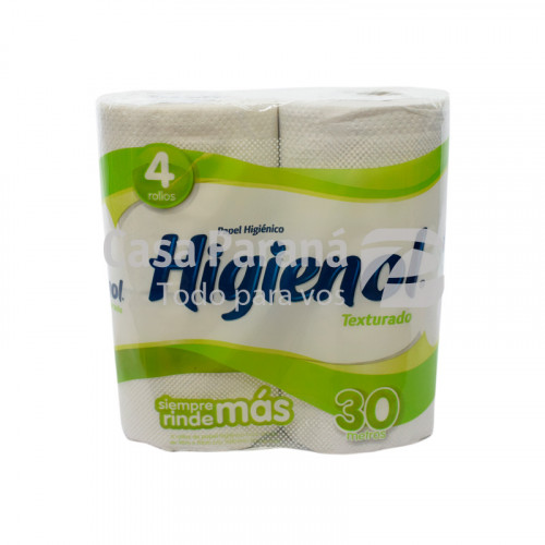 Papel higienico texturado de 30mts.