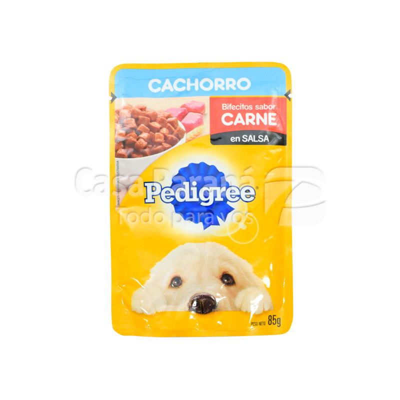 Alimento para perro cachorro en sachet sabor carne de 85 gr