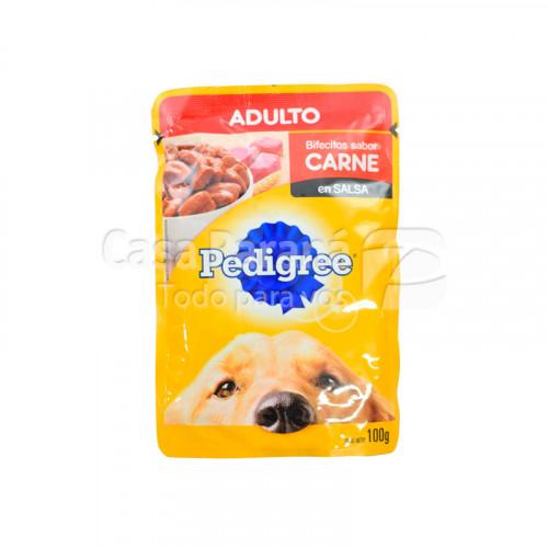 Alimento para perro adulto en sachet sabor carne de 100 gr