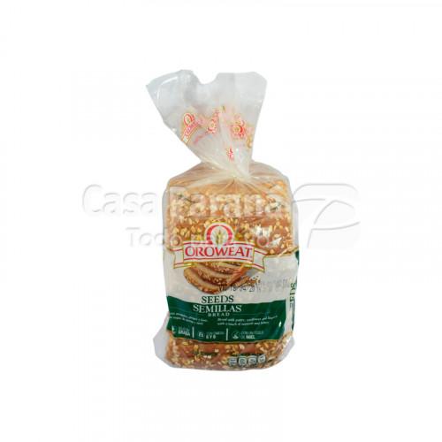 Pan para sandwich seeds  semillas bread en paquete de 600g