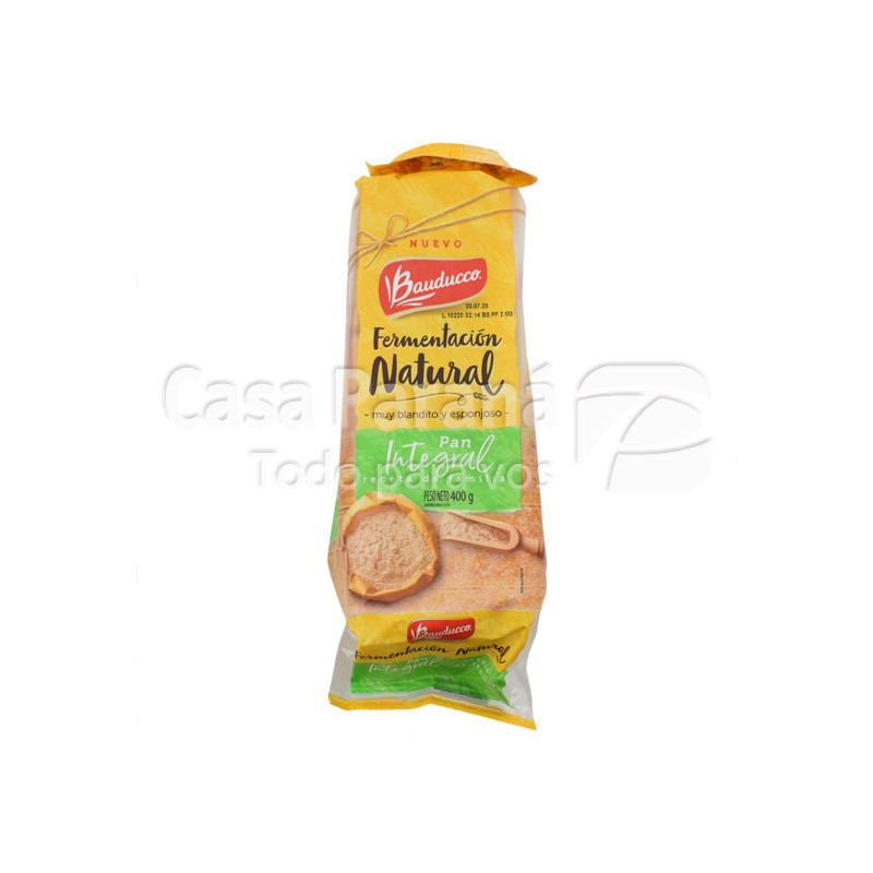 Pan para sandwich integral en paquete de 400g.