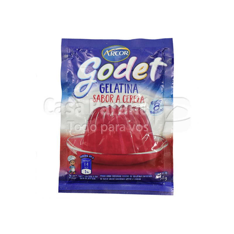 Gelatina en polvo godet sabor cereza