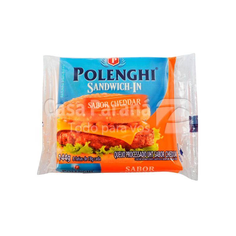 Queso para sandwich Cheddar de 144gr.