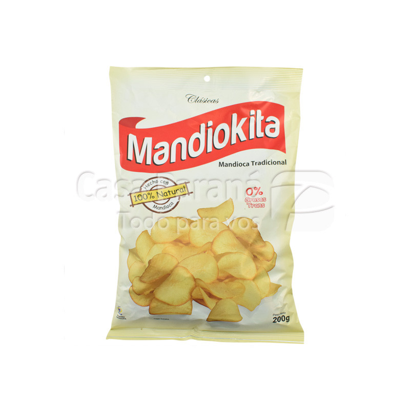 Mandioca frita en paquete  de 200gr.