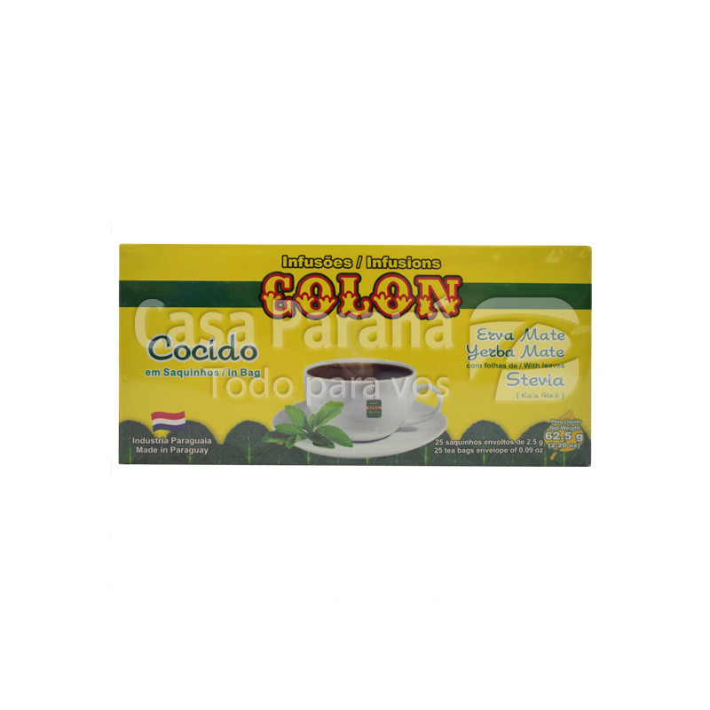 Cocido con stevia en saquitos de 62gr
