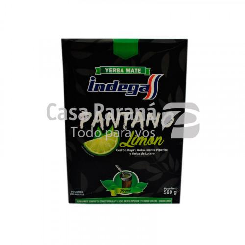 Yerba mate pantano de limón en paquete de 500gr