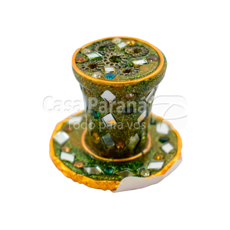 Porta Incienso de porcelana pintado con detalles
