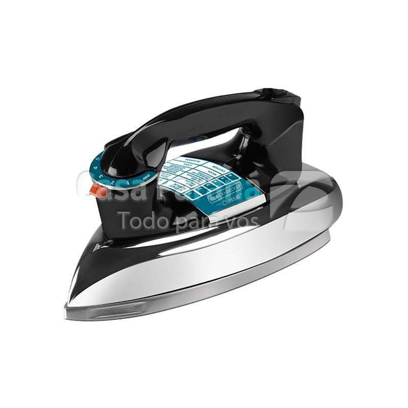 Plancha electrica seco Black and Decker basico con 4 niveles