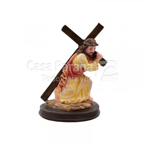 Imagen de Jesus cargando la cruz de 17 centimetros