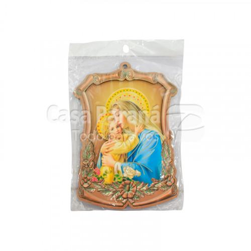 Cuadro con imagen Sagrado corazon de Maria y oracion