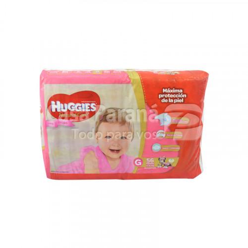 Pañal desechable natcare para niñas de 56 unidades tamaño grande