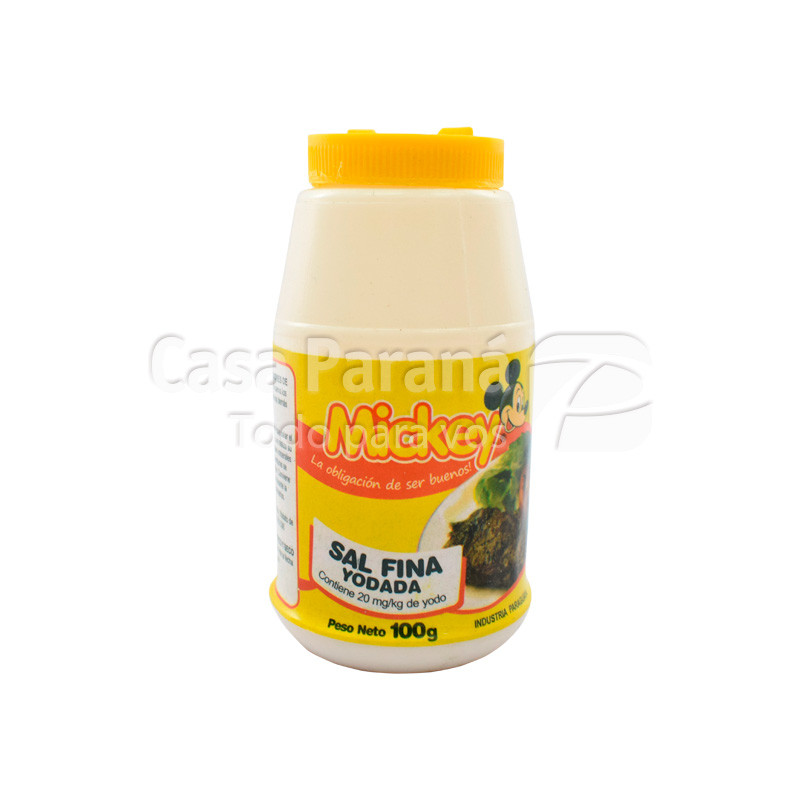 Sal fina iodada en frasco de 100 gr