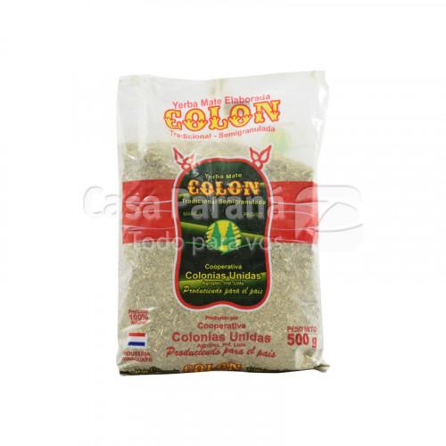 Yerba mate semigranulada en bolsa de 500 gr