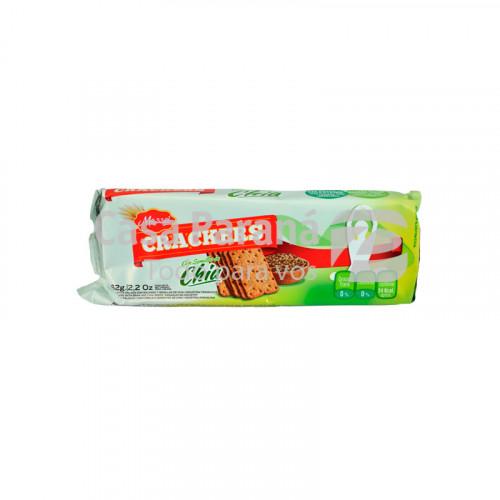 Galletita crackers con semilla de chia de 245 gr