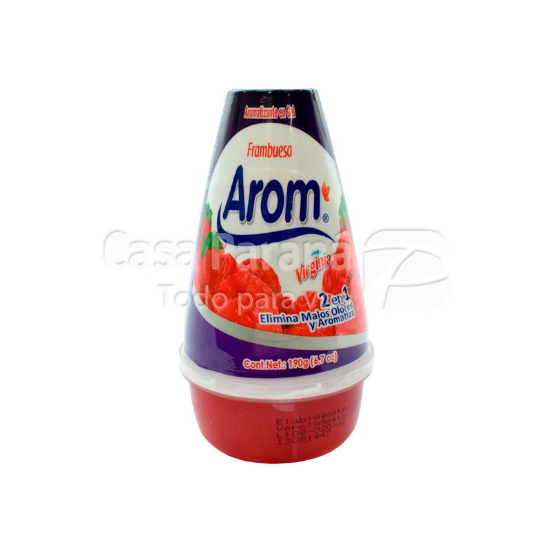 Aromatizante en gel frambuesa 190ml.