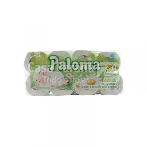 Papel higienico perfumado Camomila hoja simple 30mts 8pz