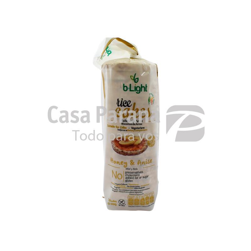 Galleta de arroz sabor miel y anis de 85 gr