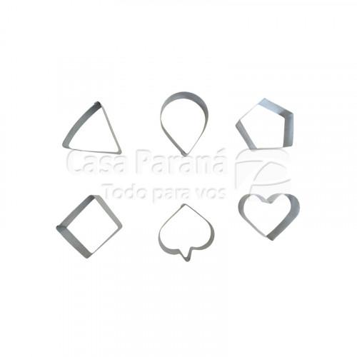 Molde y cortante  para galletita de aluminio