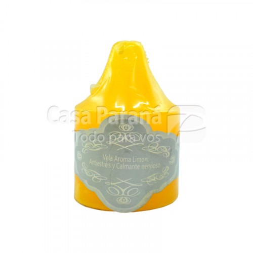 Vela aromatica fragancia de limon