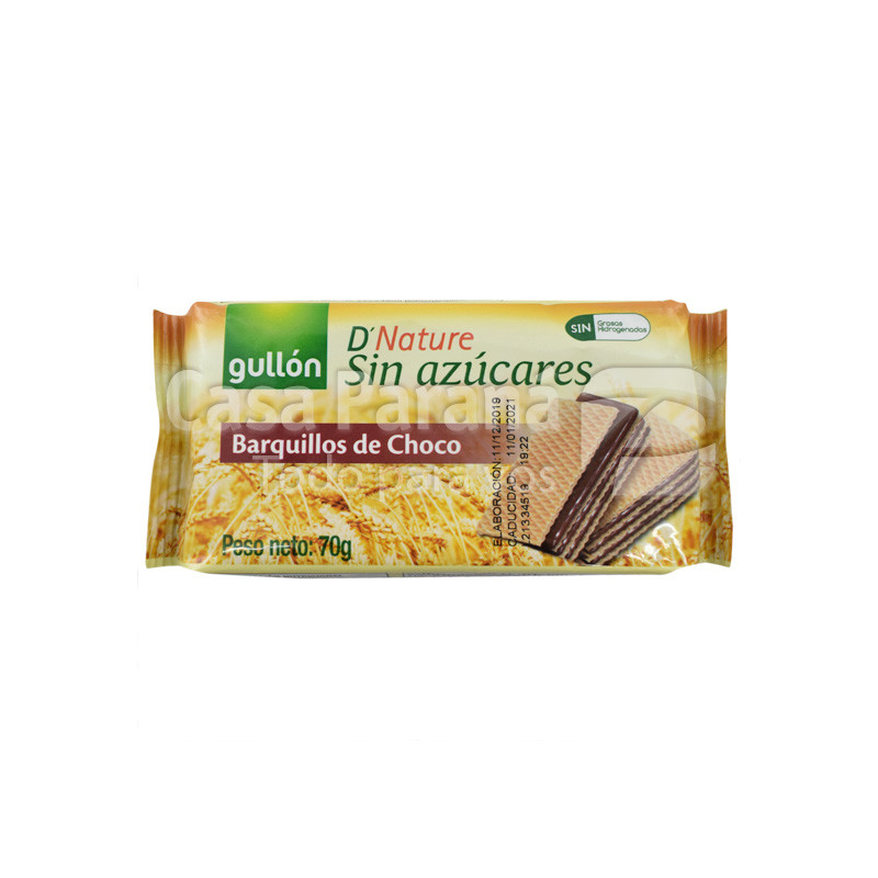 Galletita barquillos de chocolate diet natura de 70 gr