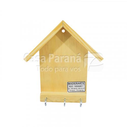 Porta llave de madera modelo casa