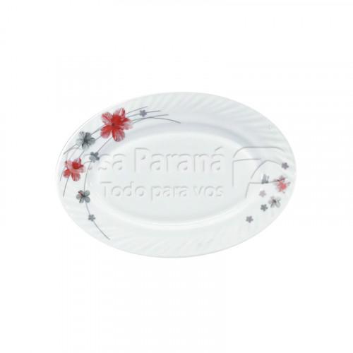 Bandeja ovalada de porcelana