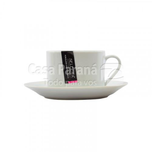 Taza con platillito de 220 ml