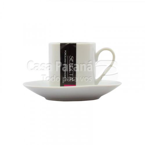 Taza con platillito de 90 ml
