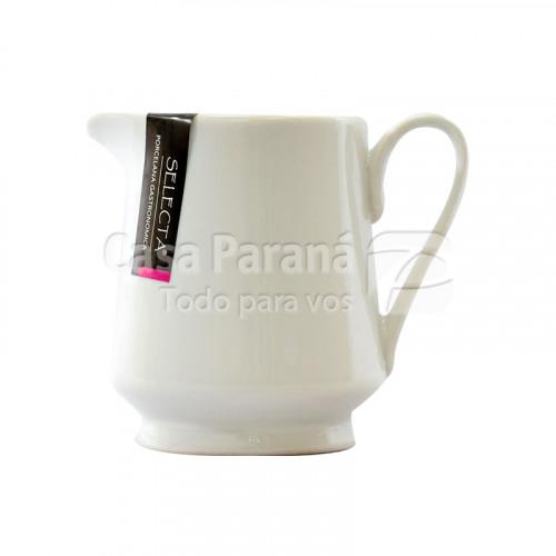 Lechera de porcelana color blanco de 300 ml