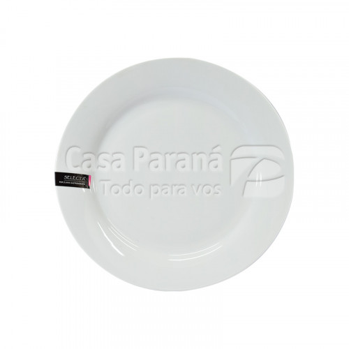 Fuente redonda de porcelana de 30.4 cm